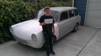 my sons first car just registered