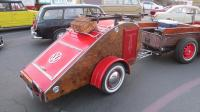 Customized Bug Teardrop style trailer.