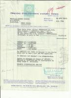 Original Invoice 1956 VW Beetle Ragtop De Luxe