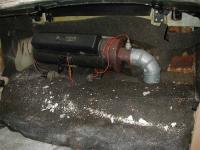 Gas heater under rear window in 74 Ghia cabro