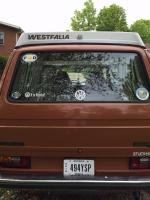 What I did to my van today 1982 Westy