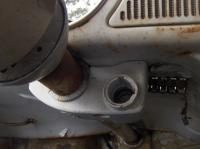early euro bug steering column lock