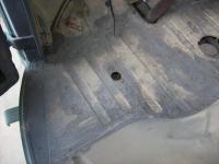 hole in floor of 1956 Wolfsburg ambulance