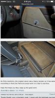 Rear seat carpet