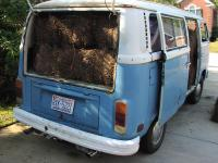 How much pinestraw can fit in a bus?!