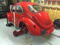 Joe Griffeys red 1969 VW beetle