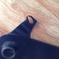 Worn clutch pedal