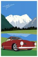 Karmann Ghia Art Print