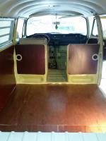68 bus interior work progress shots - panels floor cabinets