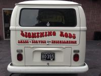 Lettering done on 68 panel van