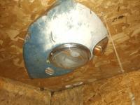 Light shade in the garage bathroom
