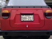 Texas YOM license plate