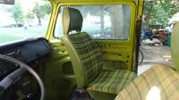 1979 VW Westy Sage Green Seat Fabric Cleaning