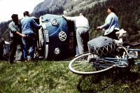 Accident in Switzerland. Late 50s
