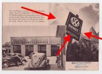 VW Dienst sign