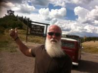 Bus on New Mexico/Colorado border