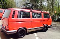 Stolen 90 VW Wolfsburg Carat-Tornado Red, Black Vision spoke wheels, Subaru 2.5