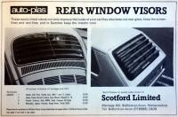 Auto-plass rear window visors