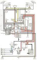 Type II wiring diagram, USA 1963