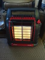 propane heater set up