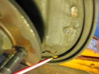 Drum brake backing plate wear