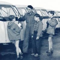 Barndoor and kids and VW uniform