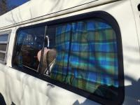 '75 Westy Blue/Green Plaid Camper Curtains