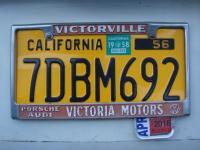 Victoria Motors Dealer License Plate Frame