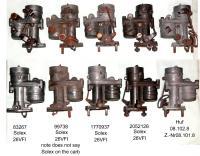Solex 26VFI and 1 Huf carburetor