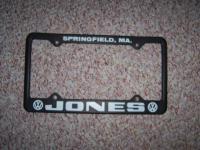 Jones VW Plate Frame