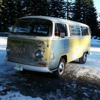 1968 tintop camper road trip shots