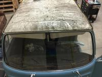 Moss covered steel sliding roof, 1969 Delux Sunroof