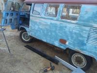 Titian red and pearl white kombi before