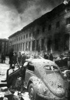 Bullet riddled split window-WWII