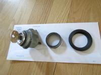 Hatch lock (86-91) with plastic ring and rubber ring