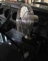 vw bus dash fan setup