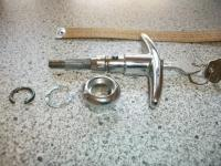 NOS motor lid HUF T handle with keys adaptable for Barndoor