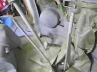 67 bus silver beige levers and steering column