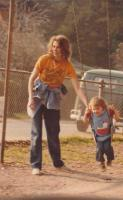 wife and daughter swings 1979