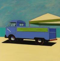 Blue VW pickup, 2016 by Melissa Chandon
