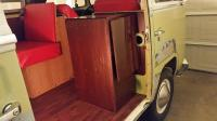 1968 tintop camper cabinet w table and interior