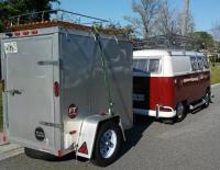 split bus towing a 1700lb trailer