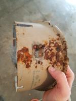 rusty headlight bucket