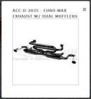 Euro Max Exhaust with Dual Mufflers