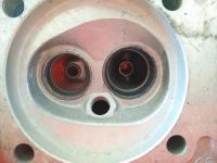 Void in head near valve seat