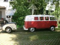 ´59 Westfalia Westy so23 towing ´50 Westfalia Stuttgart trailer