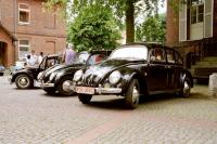 Three VW Oval Bug 4-door Taxis in Germany