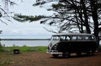 Seaside campsite