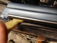 1959 ghia coupe window scraper felt and glass
