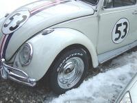 Retro'd 70's Herbie gets some chromies.